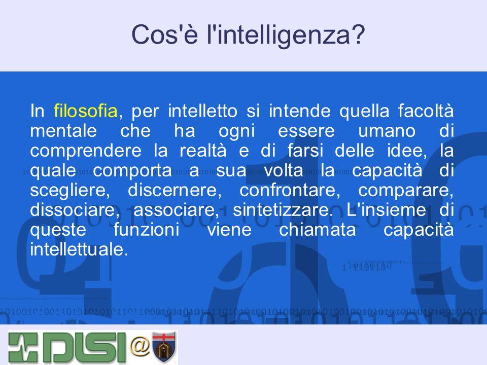 Cos è l intelligenza