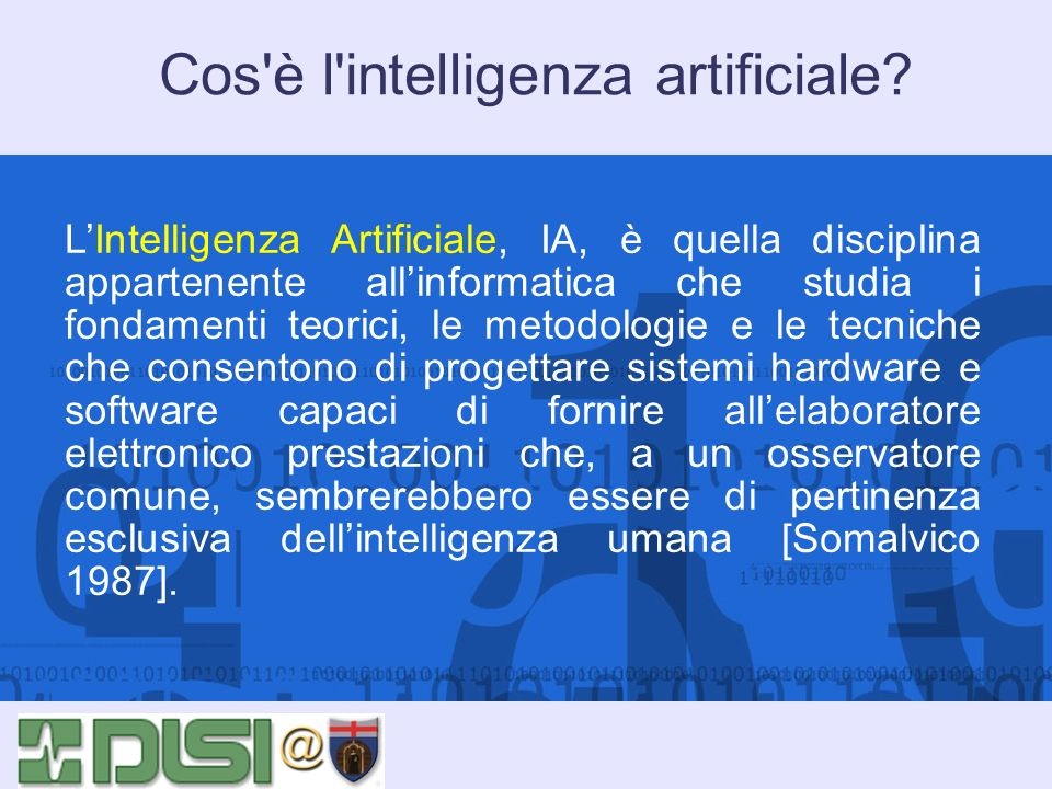 Cos è l intelligenza artificiale