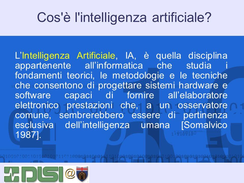 Cos è l intelligenza artificiale