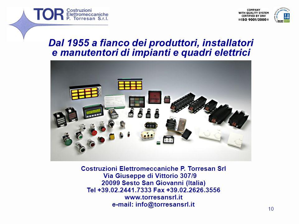 Dal 1955 a fianco dei produttori, installatori e manutentori di impianti e quadri elettrici