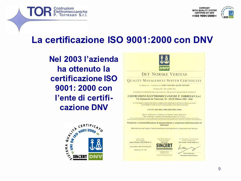 La certificazione ISO 9001:2000 con DNV