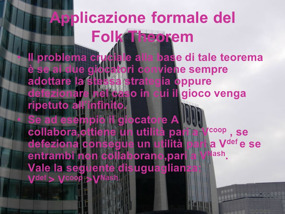 Applicazione formale del Folk Theorem