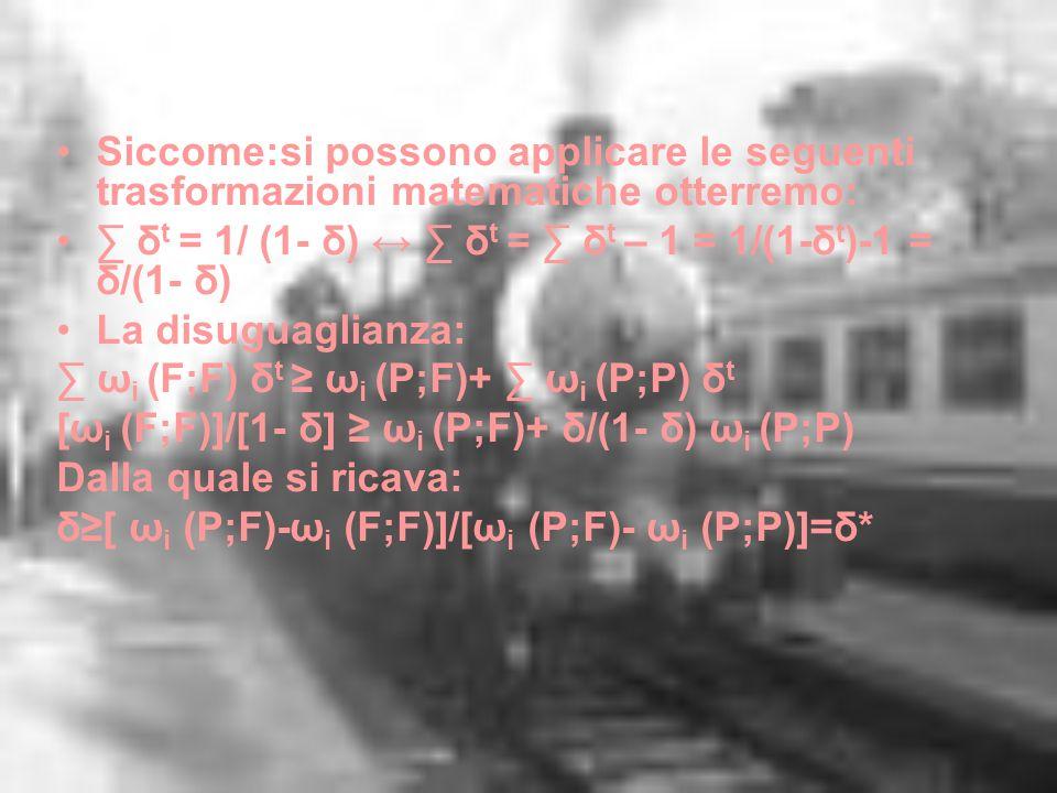 Siccome:si possono applicare le seguenti trasformazioni matematiche otterremo: