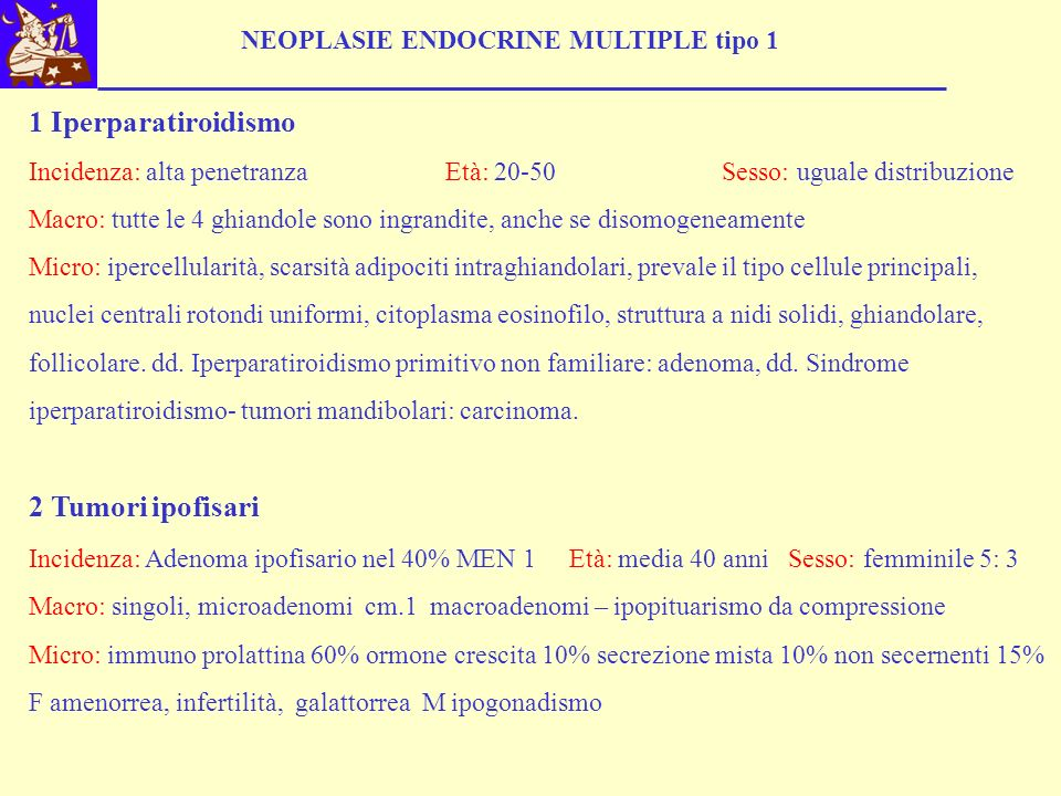 NEOPLASIE ENDOCRINE MULTIPLE tipo 1