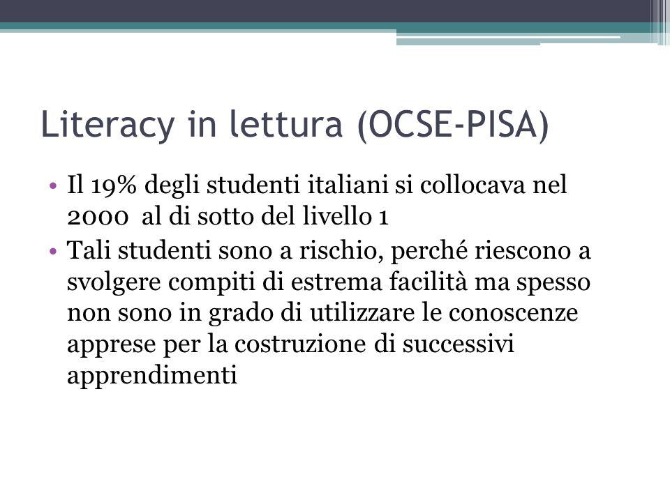 Literacy in lettura (OCSE-PISA)