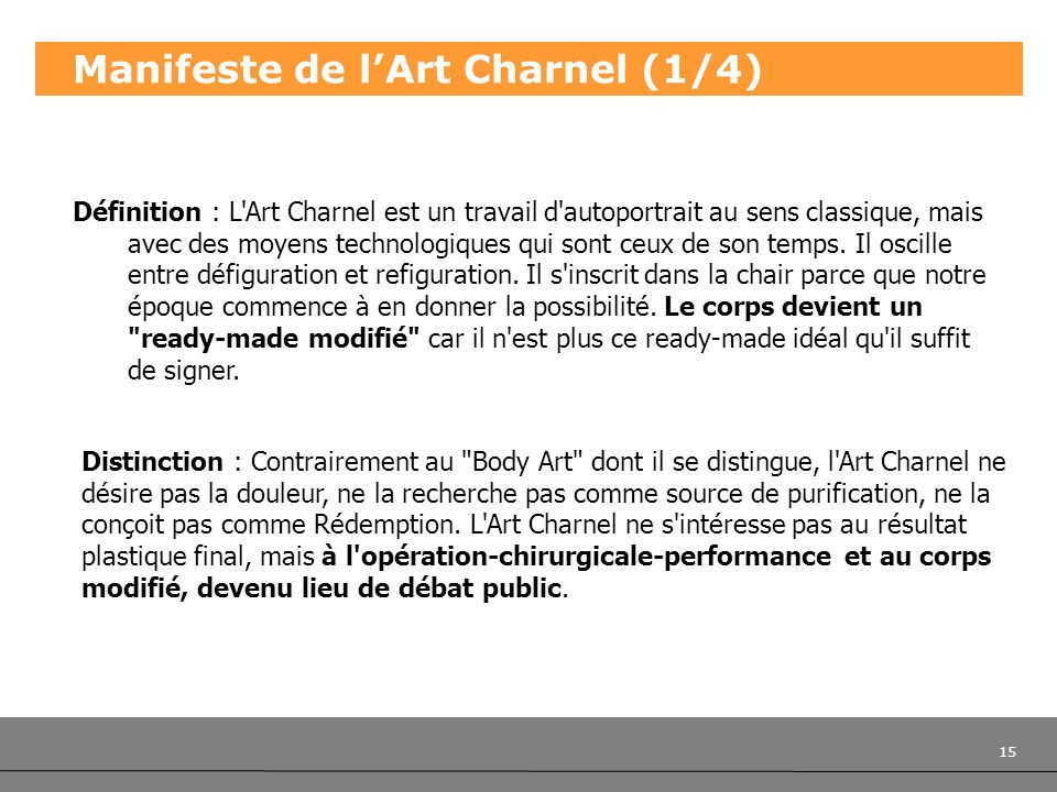 Manifeste de l'Art Charnel (1/4)