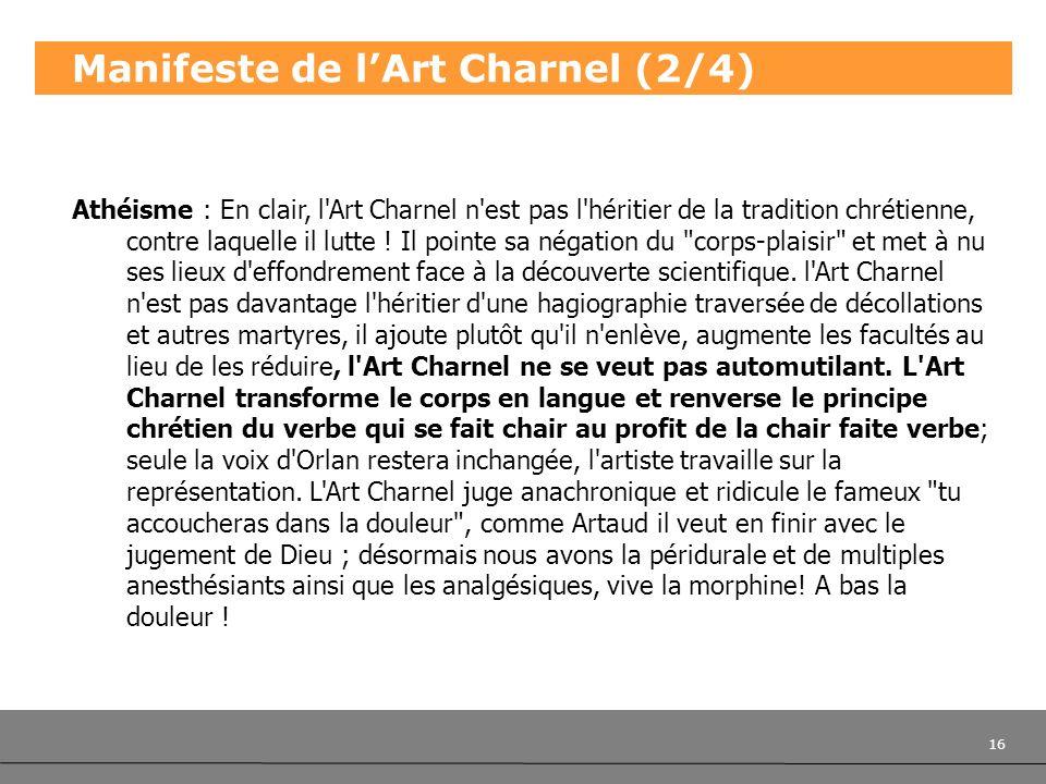 Manifeste de l'Art Charnel (2/4)