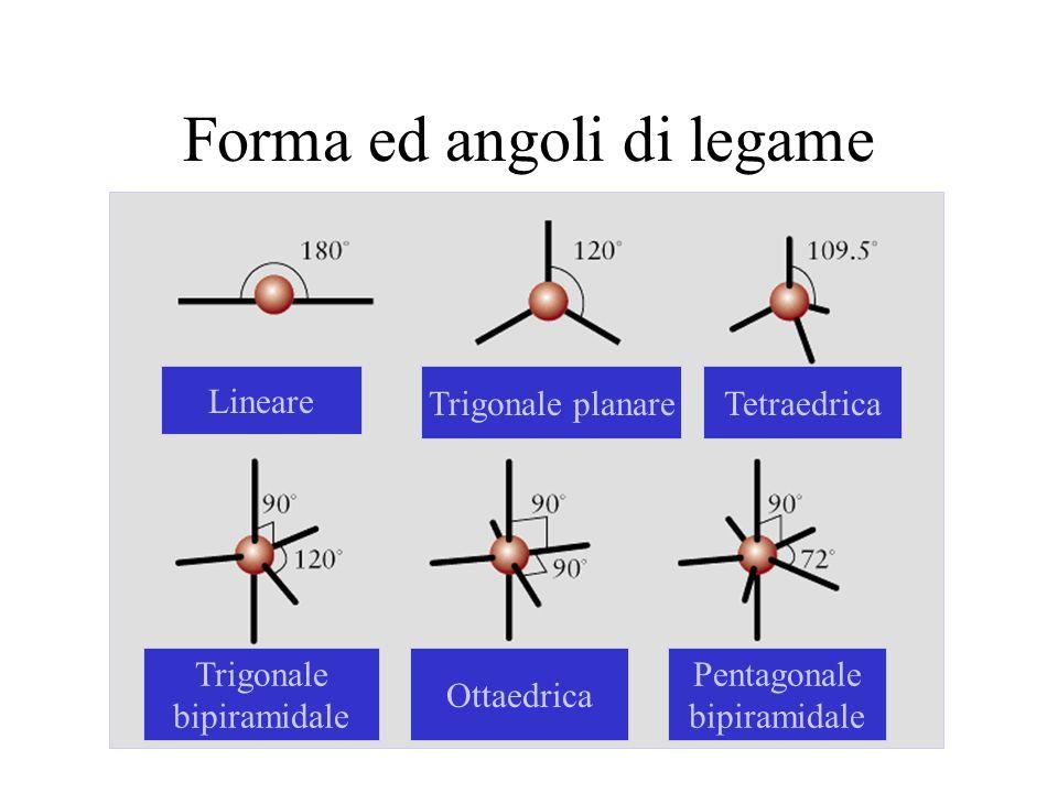 Forma ed angoli di legame