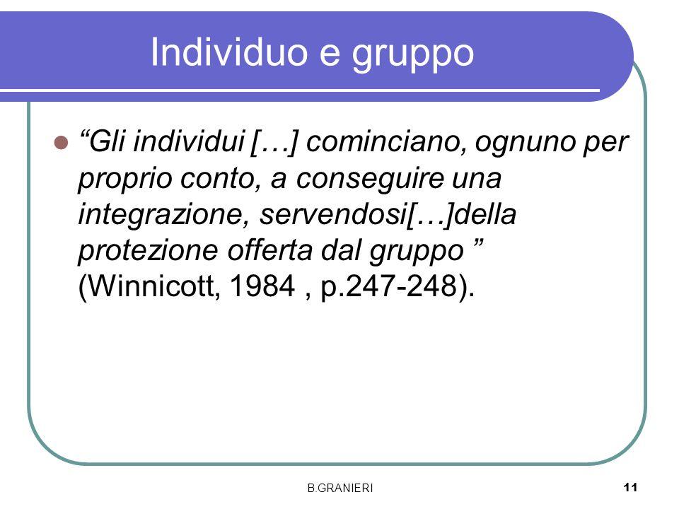 Individuo e gruppo