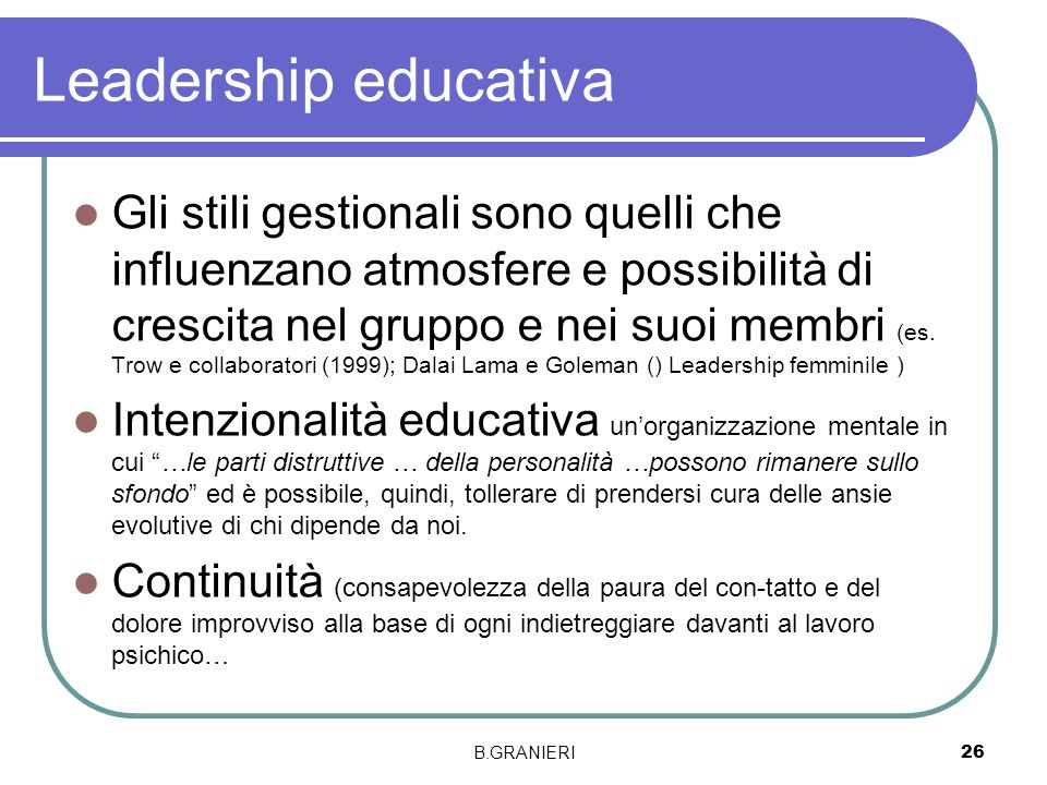 Leadership educativa