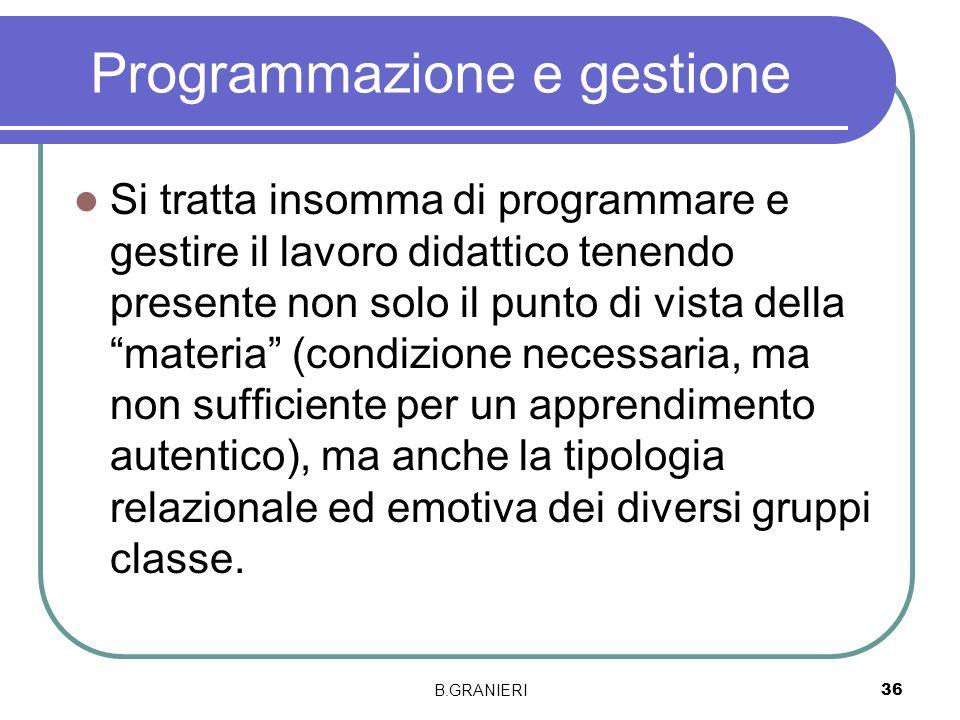 Programmazione e gestione