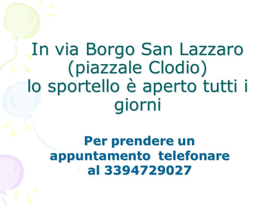 Per prendere un appuntamento telefonare al 3394729027