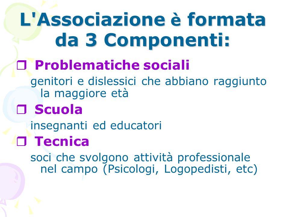 L Associazione è formata da 3 Componenti: