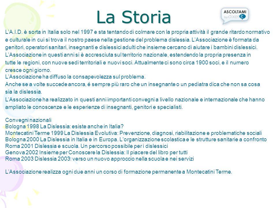 La Storia L'A.I.D. è sorta in Italia solo nel 1997 e sta tentando di colmare con la propria attività il grande ritardo normativo.