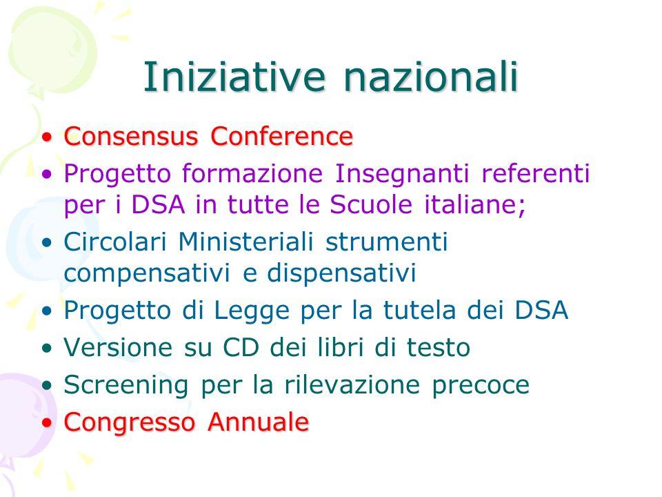 Iniziative nazionali Consensus Conference