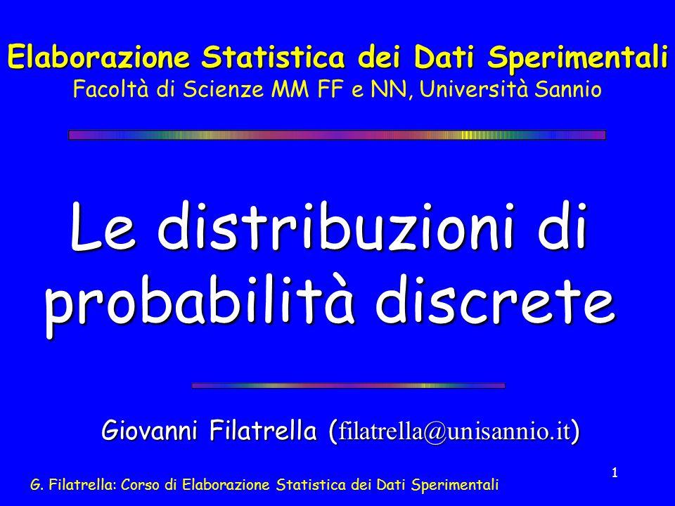 Le distribuzioni di probabilità discrete