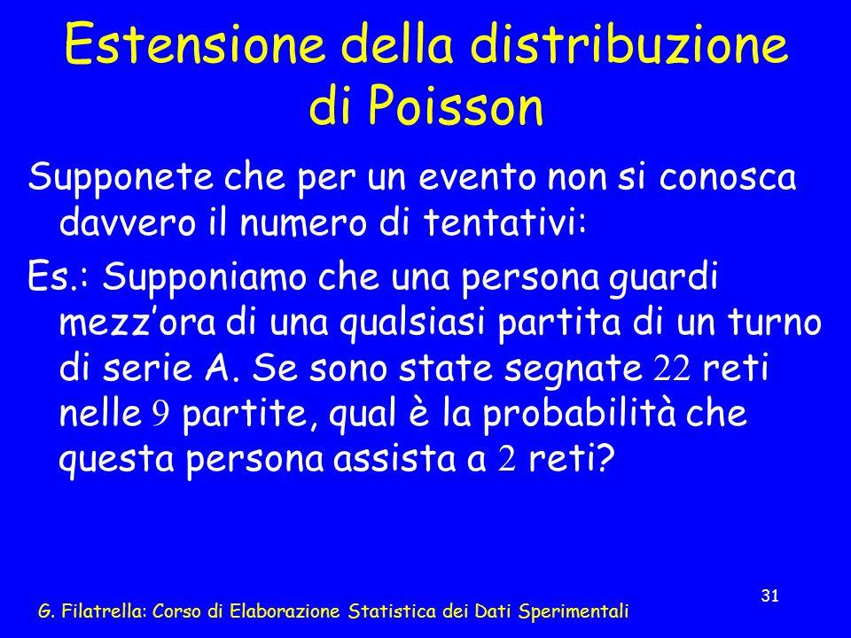 Estensione della distribuzione di Poisson