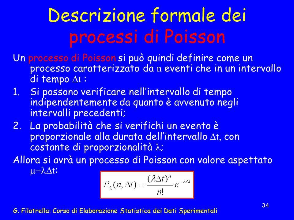 Descrizione formale dei processi di Poisson