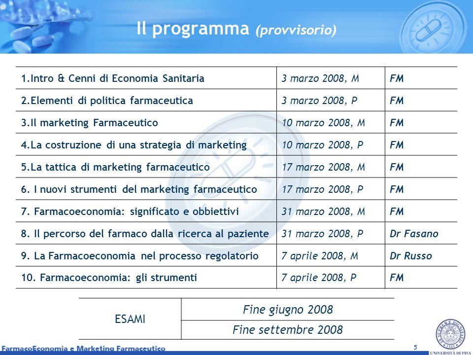 Il programma (provvisorio)
