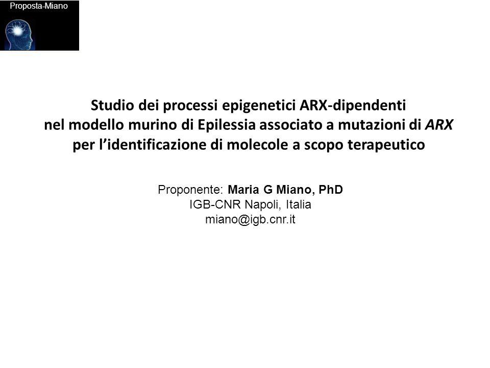 Studio dei processi epigenetici ARX-dipendenti