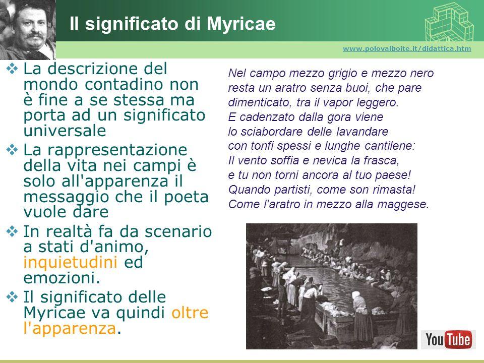 Il significato di Myricae