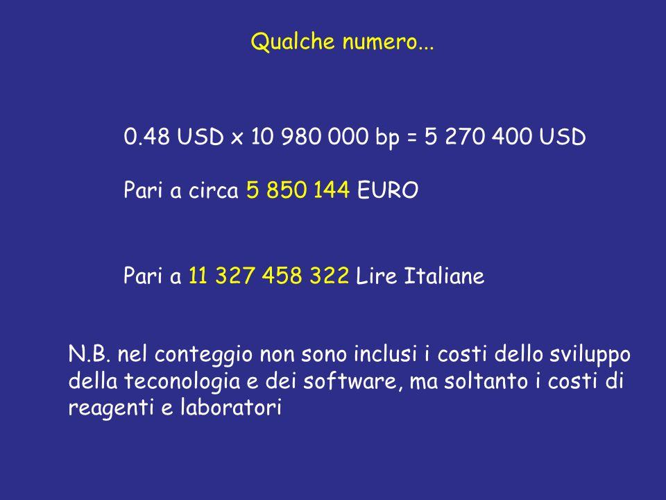 Qualche numero... 0.48 USD x 10 980 000 bp = 5 270 400 USD. Pari a circa 5 850 144 EURO. Pari a 11 327 458 322 Lire Italiane.