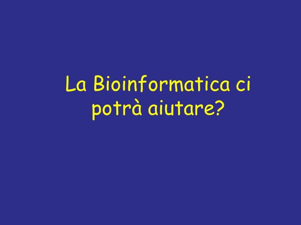 La Bioinformatica ci potrà aiutare
