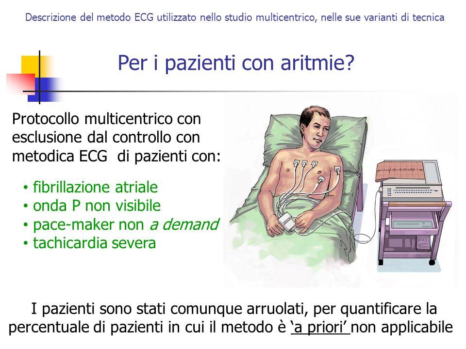 Per i pazienti con aritmie
