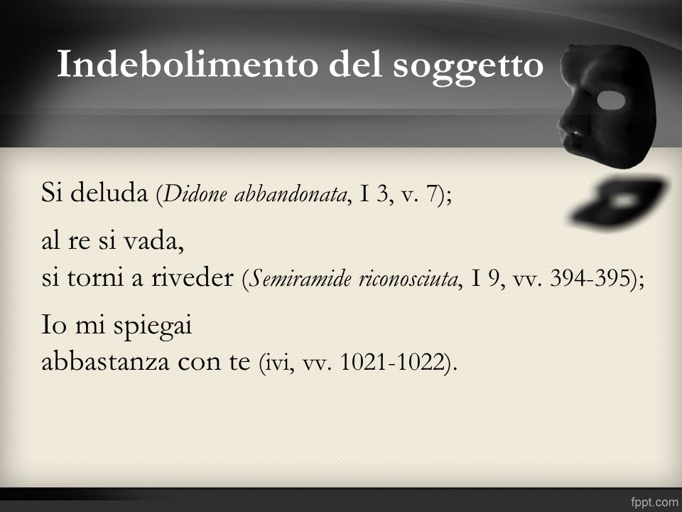 Indebolimento del soggetto