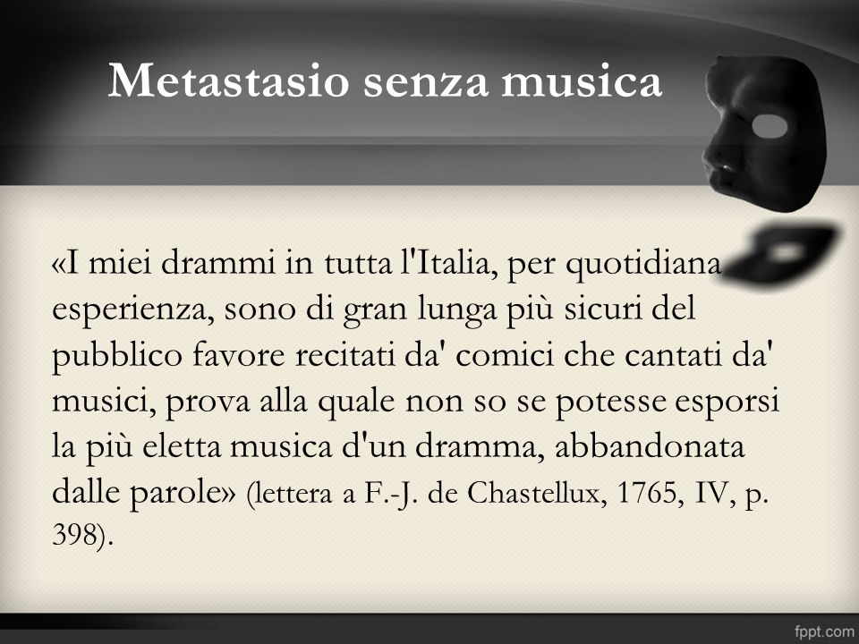 Metastasio senza musica
