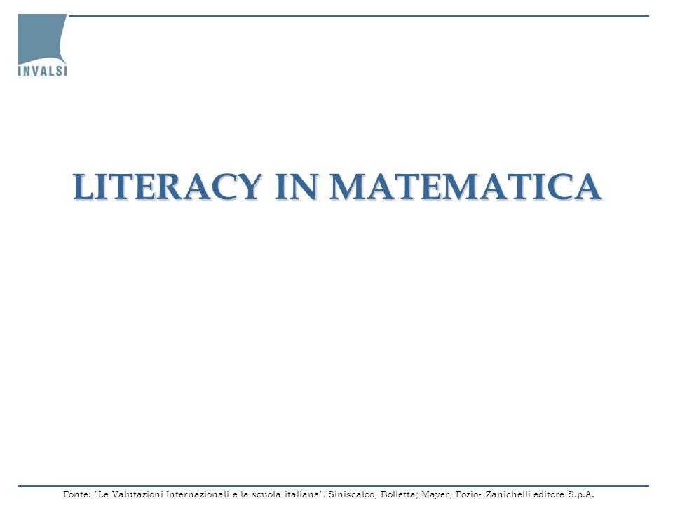 LITERACY IN MATEMATICA
