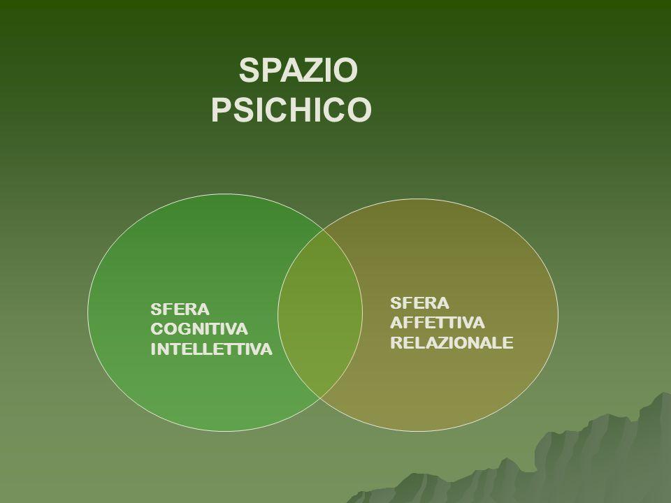 SPAZIO PSICHICO SFERA SFERA AFFETTIVA COGNITIVA RELAZIONALE