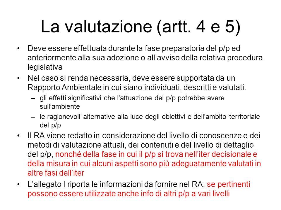 La valutazione (artt. 4 e 5)