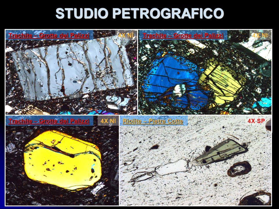 STUDIO PETROGRAFICO Trachite – Grotte dei Palizzi 4X NI