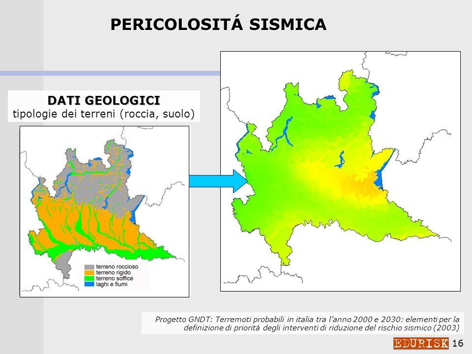 tipologie dei terreni (roccia, suolo)