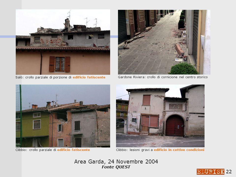 Area Garda, 24 Novembre 2004 Fonte QUEST
