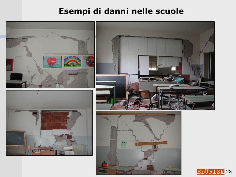 Esempi di danni nelle scuole