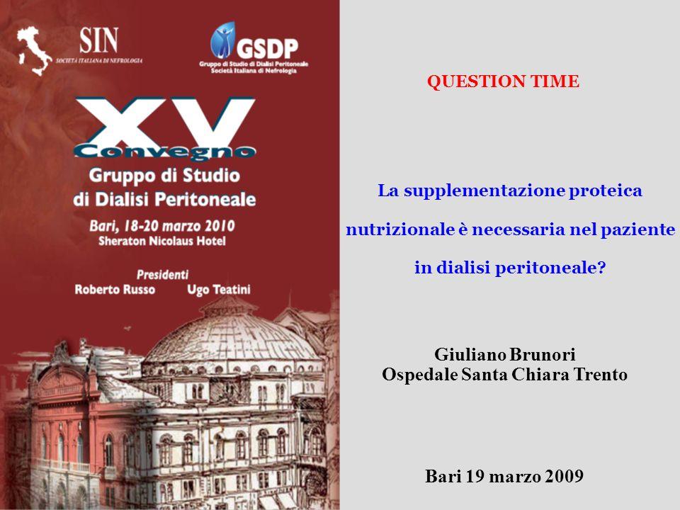 Giuliano Brunori Ospedale Santa Chiara Trento Bari 19 marzo 2009