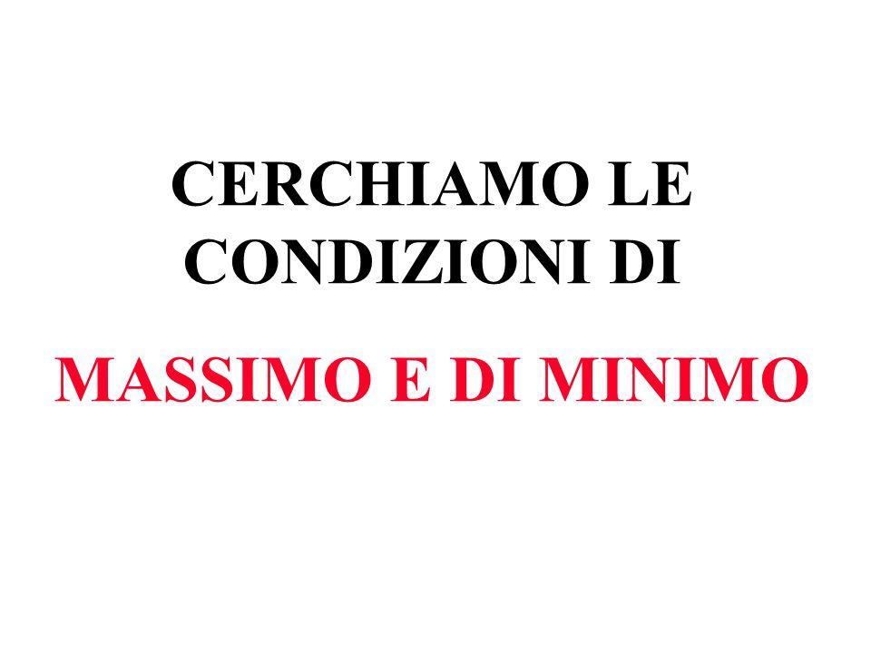 CERCHIAMO LE CONDIZIONI DI