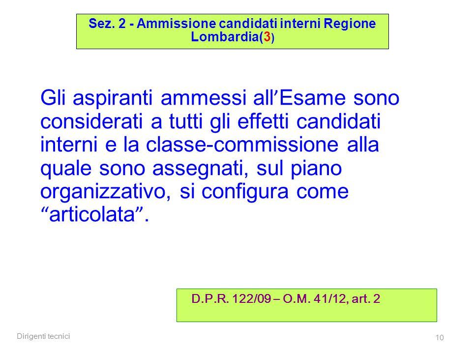 Sez. 2 - Ammissione candidati interni Regione Lombardia(3)