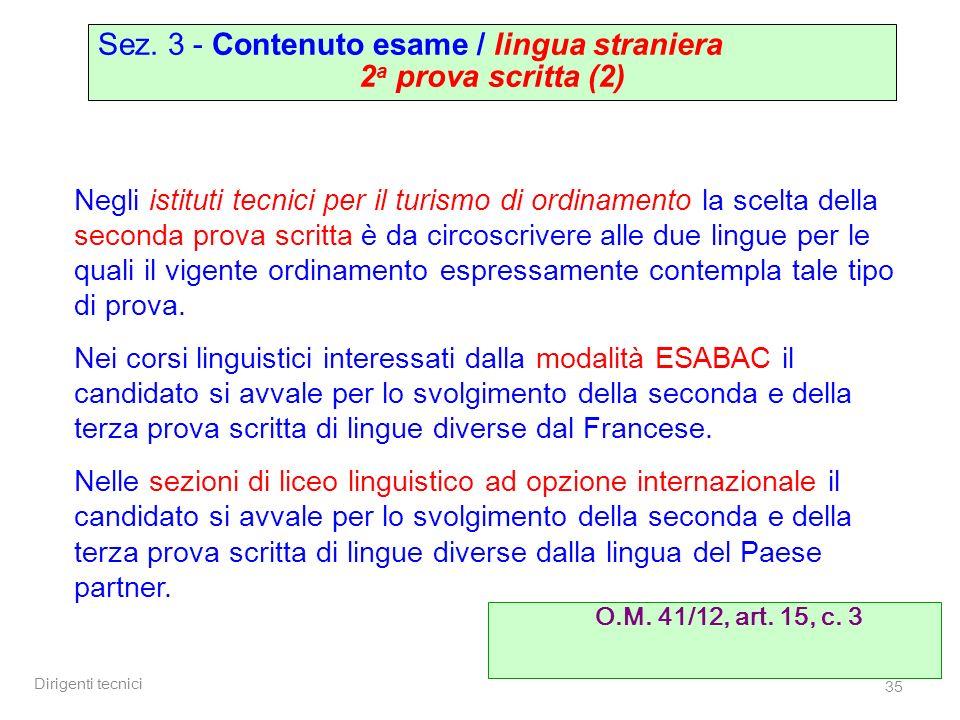 Sez. 3 - Contenuto esame / lingua straniera 2a prova scritta (2)