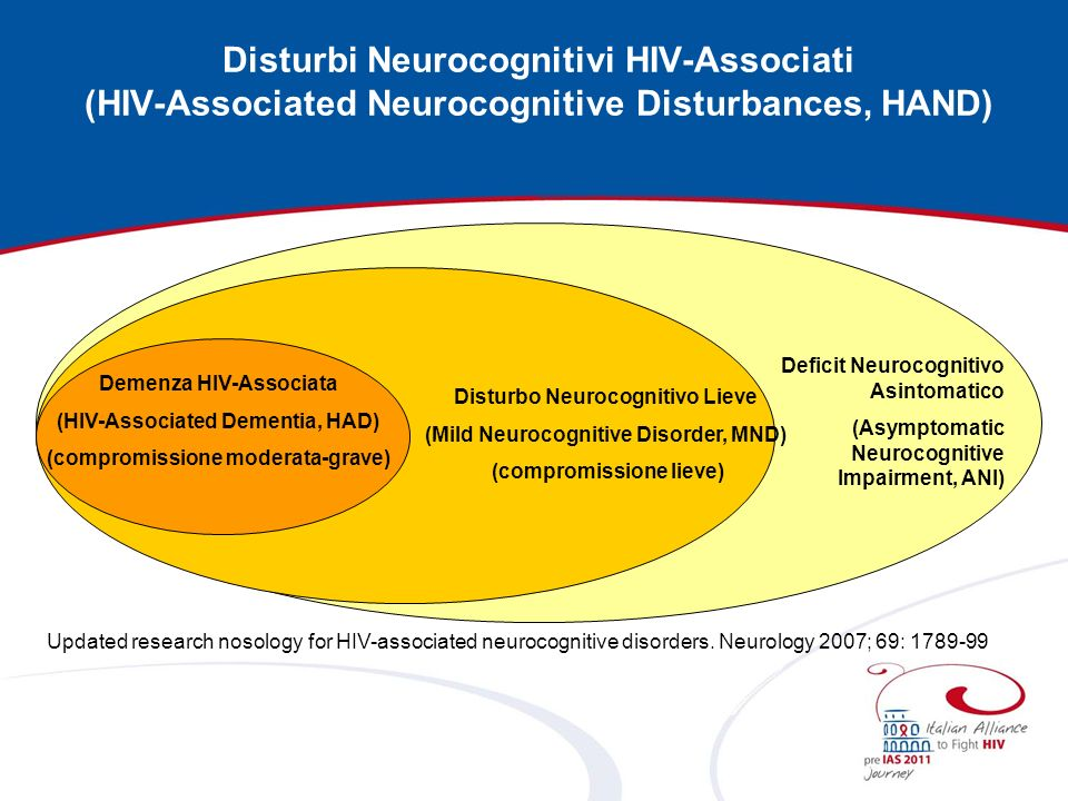 Disturbi Neurocognitivi HIV-Associati (HIV-Associated Neurocognitive Disturbances, HAND)