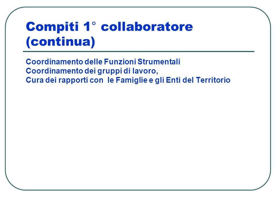 Compiti 1° collaboratore (continua)