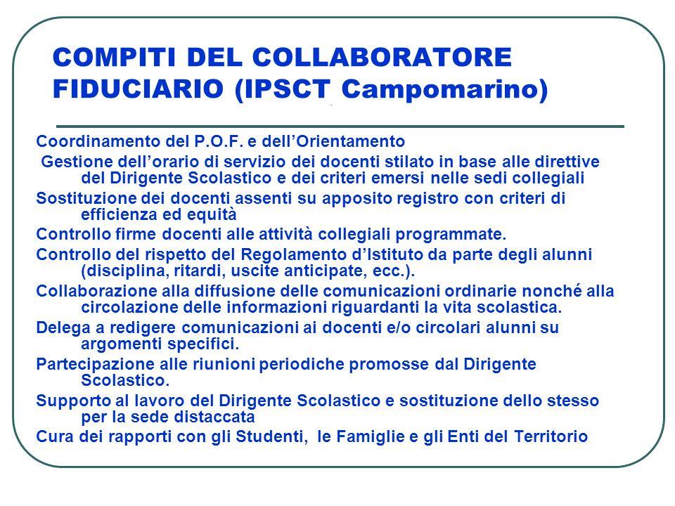 COMPITI DEL COLLABORATORE FIDUCIARIO (IPSCT Campomarino)