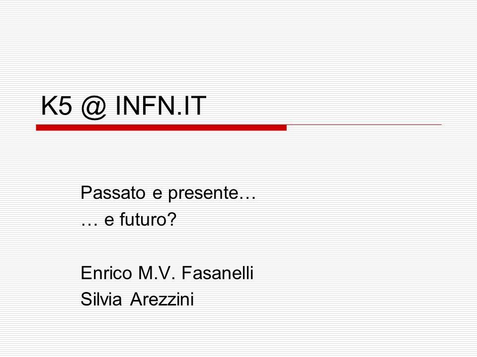 Passato e presente… … e futuro Enrico M.V. Fasanelli Silvia Arezzini