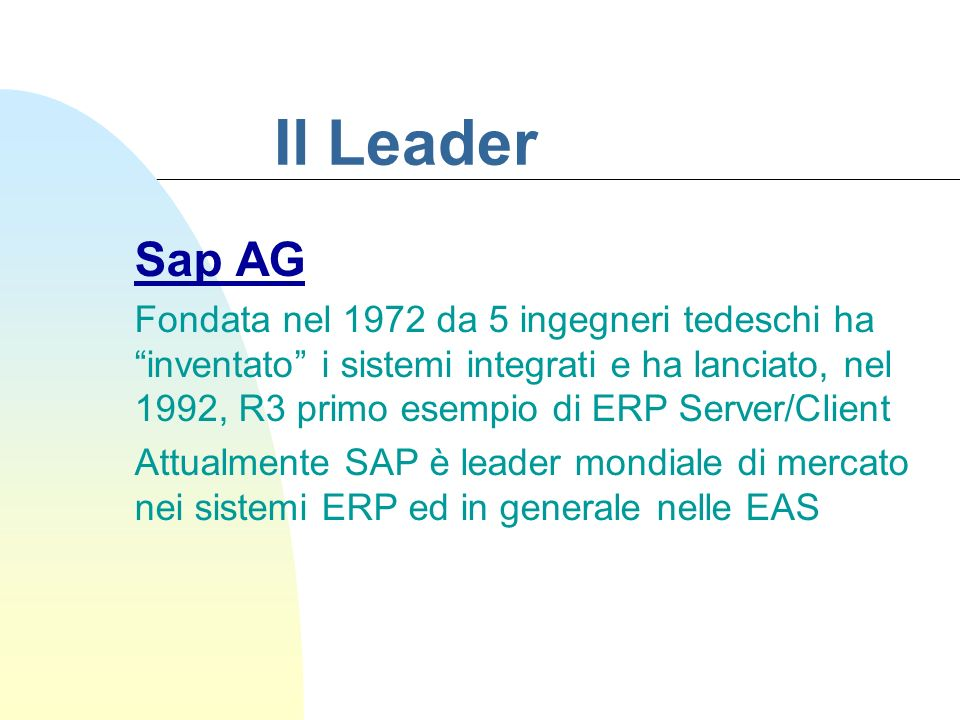 Il Leader Sap AG.