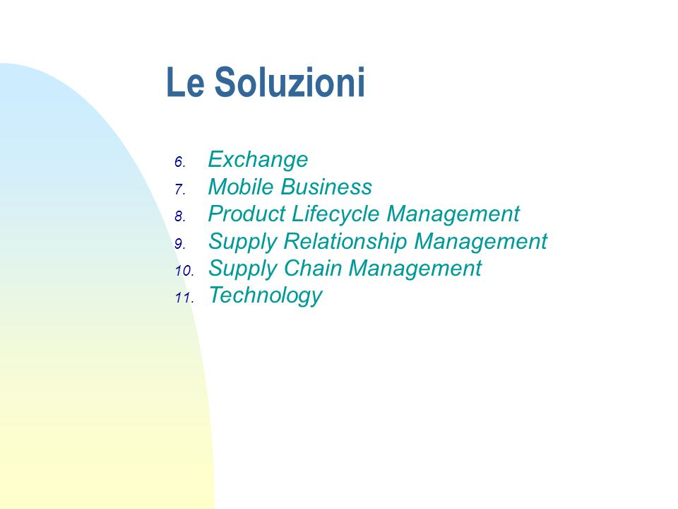 Le Soluzioni Exchange Mobile Business Product Lifecycle Management