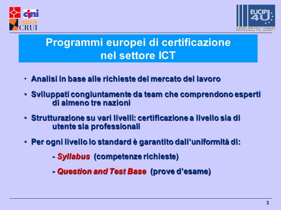Programmi europei di certificazione nel settore ICT