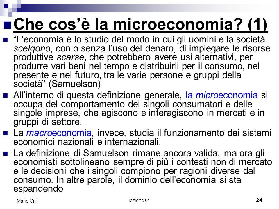 Che cos'è la microeconomia (1)
