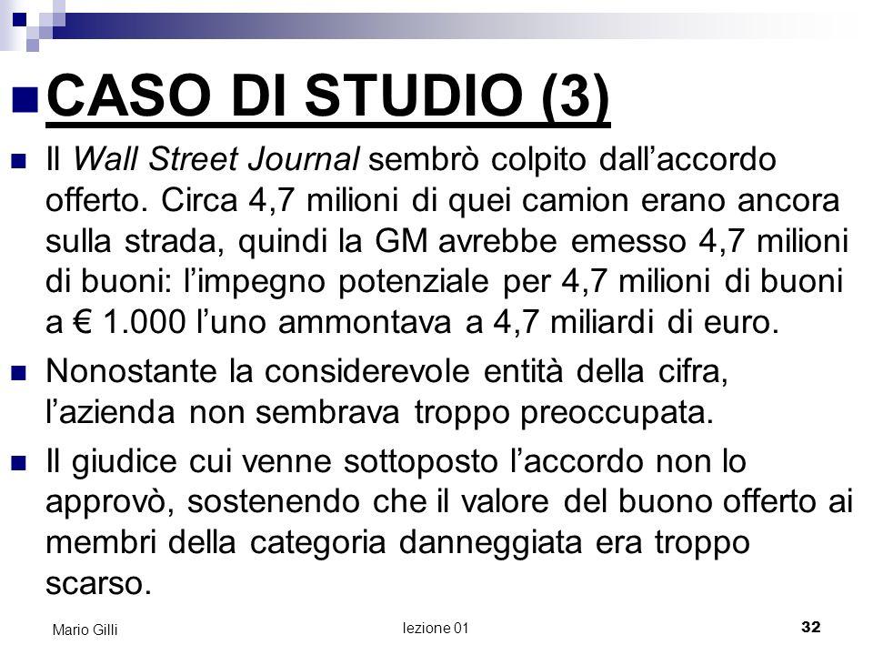 Microeconomia Mario Gilli. CASO DI STUDIO (3)